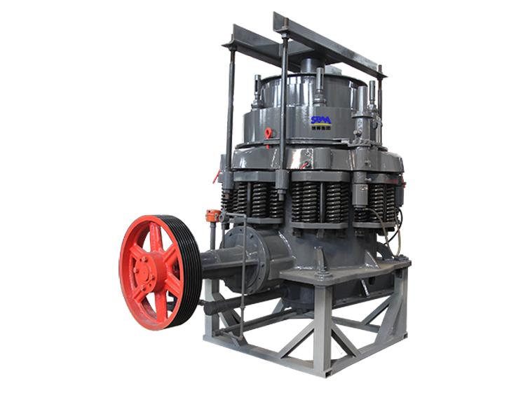 CS弹簧圆锥破碎机适用于各种中等以上硬度的矿石和岩石破碎生产工艺