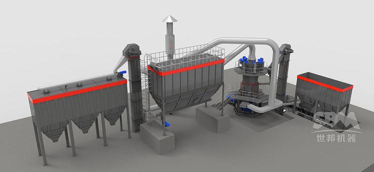 高岭土磨粉生产工艺